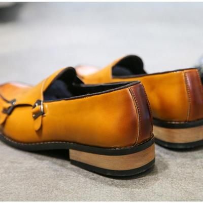 Buckle Strap Loafers Shoes