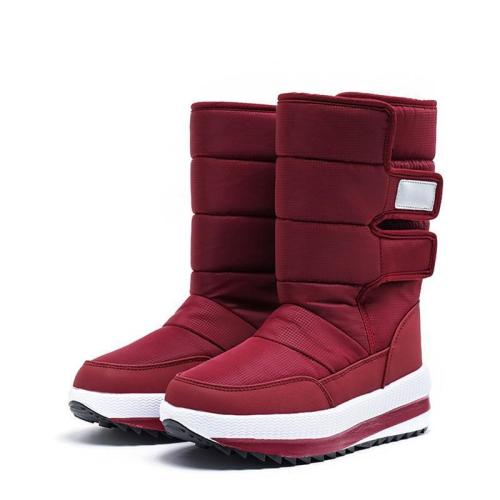 Autumn/Winter Wrap Stick Tape Mid-Calf Slipproof Boots