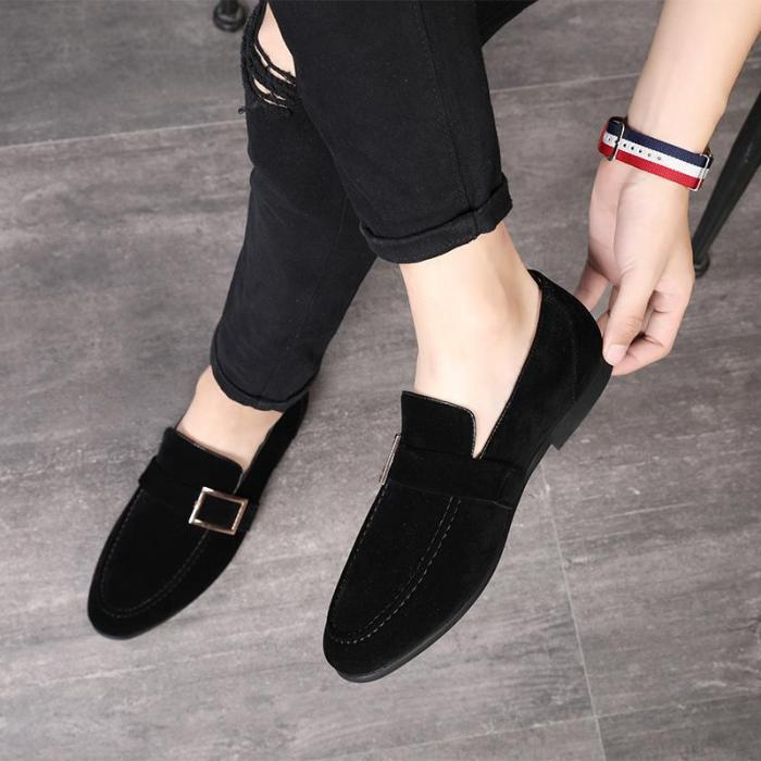 Solid Suede Classic Flat Shoes