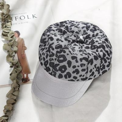 Hat Ladies Flat-top Navy Hat Japanese Retro with Outdoor Leopard Berets