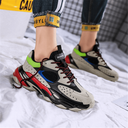 Fashion Wild Colorblocking  Men's Sneakers