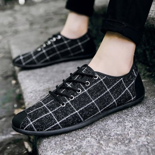Men Wear Casual Plaid Shoes
