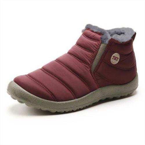 Women Unisex Waterproof Fur Lining Snow Boots