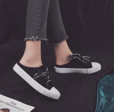Women Flat Heel Lace Up Daily Slip On Sneakers