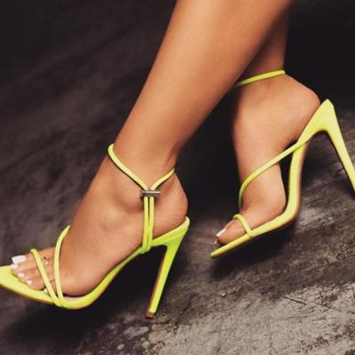 2020 Summer New Sandals The Pointed Tip High Heel Anti-slip Sexy Big Size Sandals
