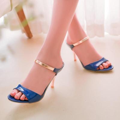 Women Sandals Slip On Elegant Stiletto High Heels Shoes