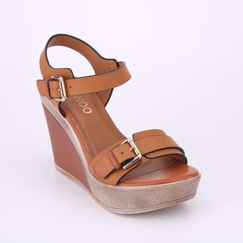 Wedge Heel Shoes Buckle Strap Sandals