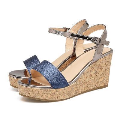 Daily Adjustable Buckle Wedge Heel Sandals