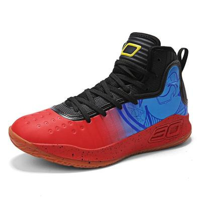 Fashion Casual Stripe Breathable High-Top Basketball Shoes