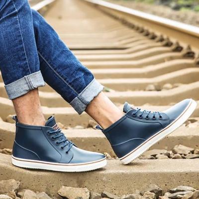 Men's Non-Slip Casual Front Strap Short Tube Plastic Shoes