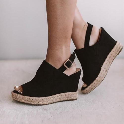 Women Summer Casual  Peep Toe Wedges