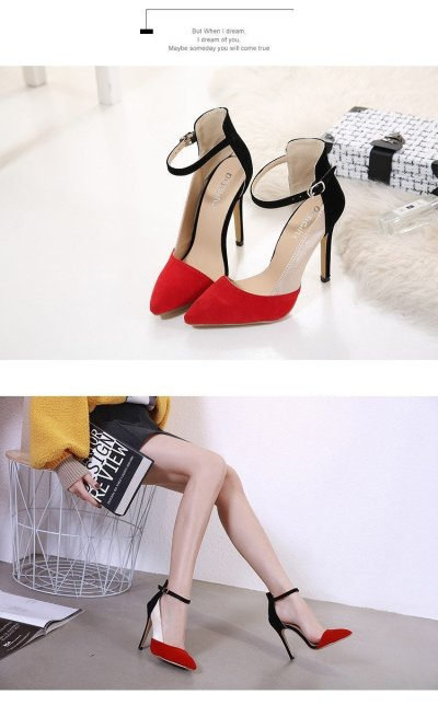 The new color matching female sandals Fashion high heels