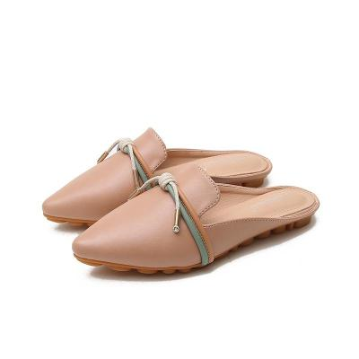 2020 new Muller shoes women's ribbons bow bound slippers women's pointed sandals women's summer