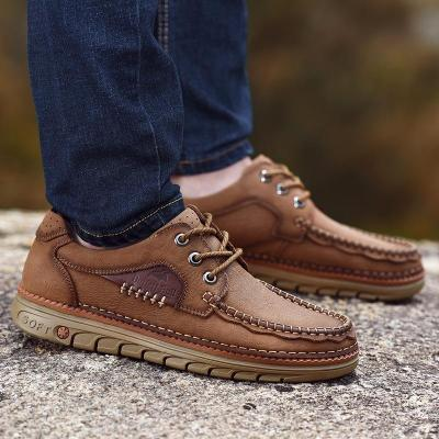 Mens Fashion Cargo Shoes Outdoor Hiking Flats