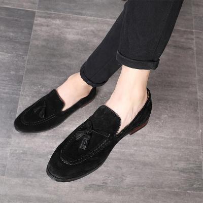Solid Tassels Luxury Suede Loafers