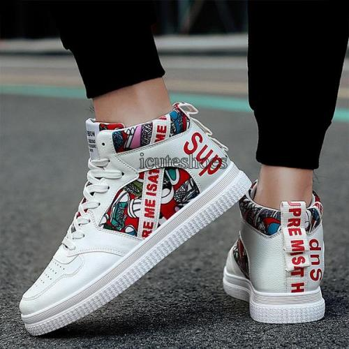 Men's Shoes High Help Board Shoes Casual Canvas Shoes Running Shoes