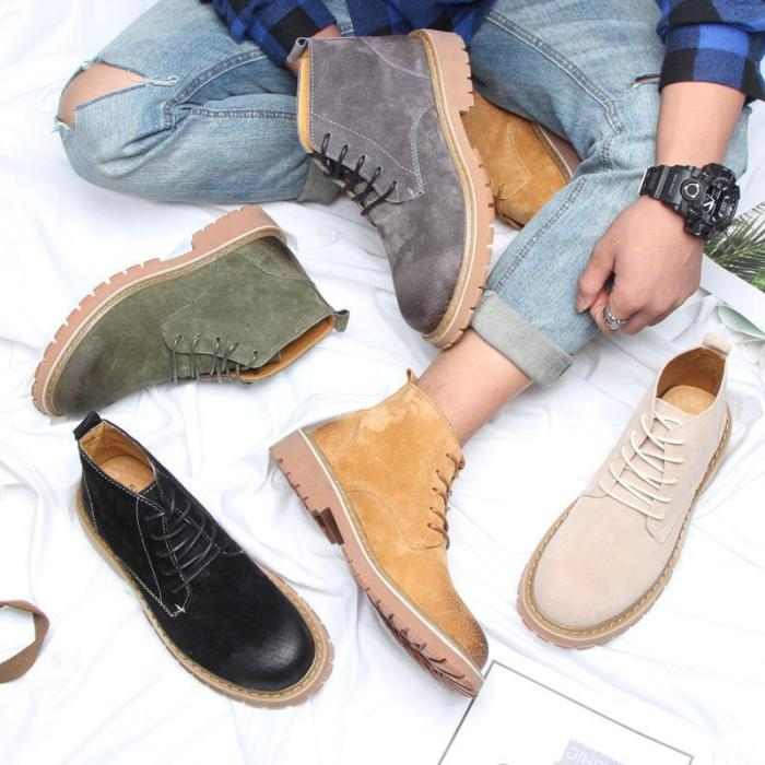 British men's versatile tooling men's Martin boots