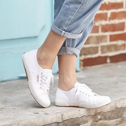 Large Size Daily Lace-up Canvas Sneakers Sport Casual Loafers