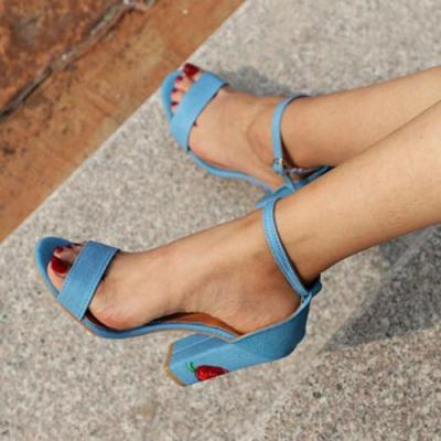 Women Pu High Heel Sandals