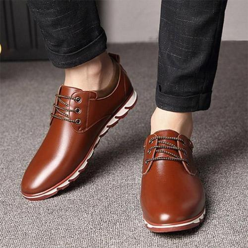 Mens Pure Color Slip Resistant Soft Business Casual Driving Shoes