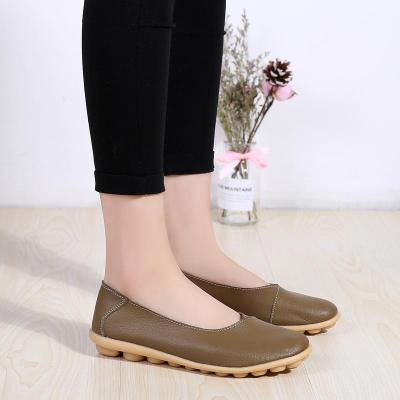 New Fashion Cow Leather Women Loafers Non-slip Rubber Buttom Girl Shoes  127964