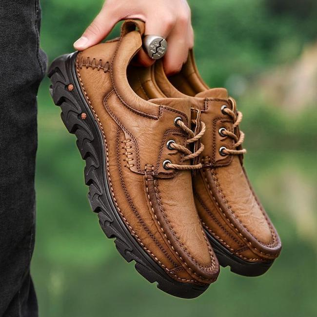 Mens Lace-up Retro Outdoor Climbing Hiking Flats