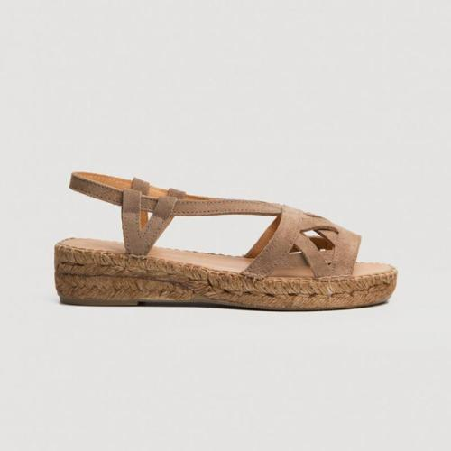 Straw-Weaved Hollow Strap Wedges Sandals