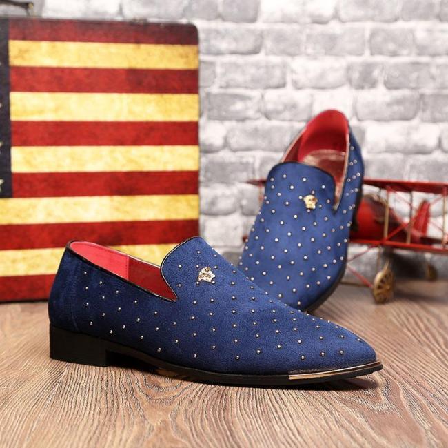 Men Rivet Decoration Wedding Shoes