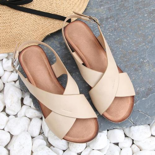 Ladies Shoes 2020 New Slope Heel Gladiator Sandals Large Size Sandals Simple Sandals Women