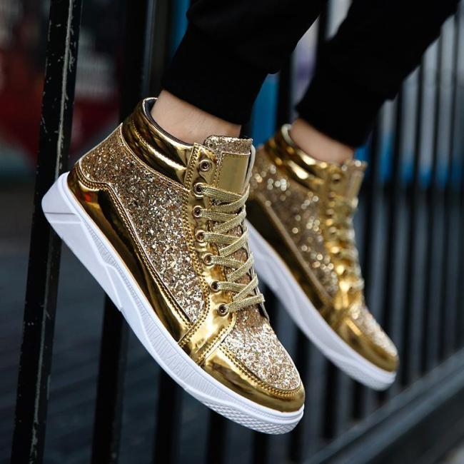 Fashion Personality Party High Top Shiny Shoes