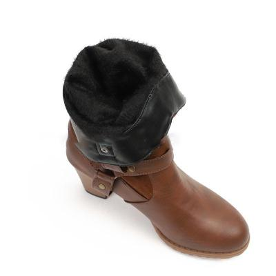 Womens Vintage Chunky Heel Casual Boots