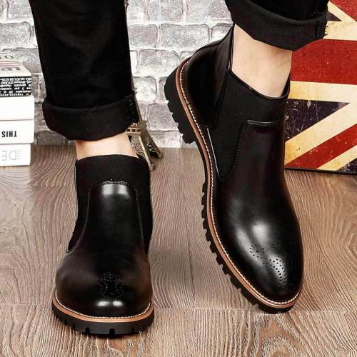 Fashion Mid-High  Plain Martin Boots