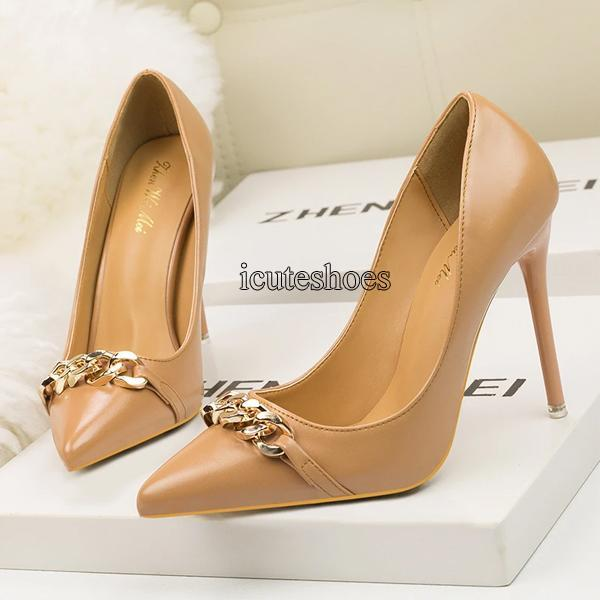 Fashion Sexy Women's Shoes High-heeled Pointed Single Shoe High-heeled Shoes