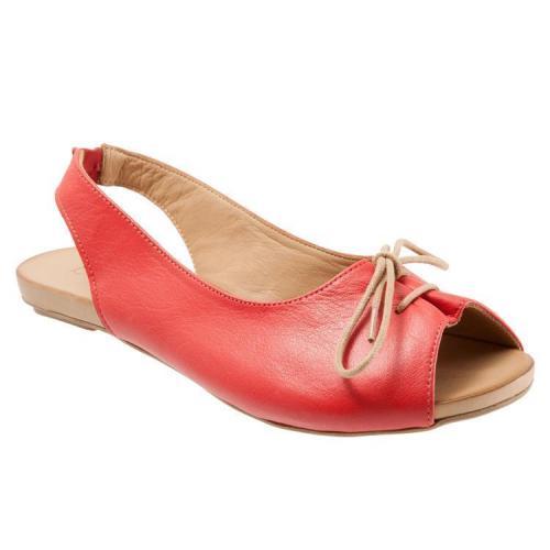 Sweet Lace-Up Peep-Toe Adjustable Back Strap Mule Sandals