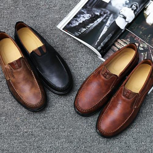 Men's Round Toe Casual Soft Flat Slip on Shoes