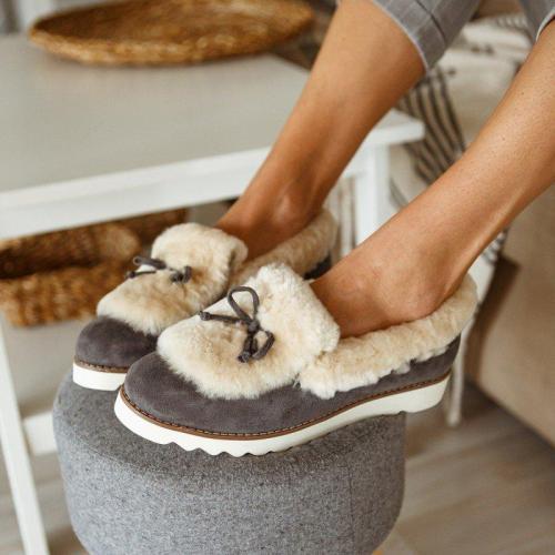 Women Casual Slip on Warm Loafers