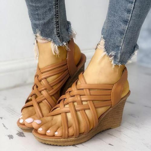 Wedge Woven Belt Sandals