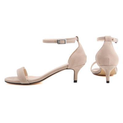 Kitten Heel Summer Adjustable Buckle Sandals