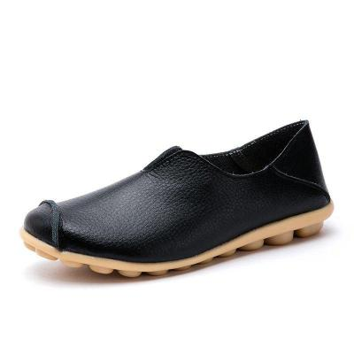 Women Casual Loafers PU Slip On Shoes