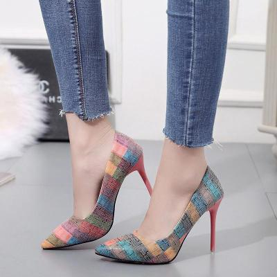 Pump  High Heels Single Shoes Female Summer Patent Leather