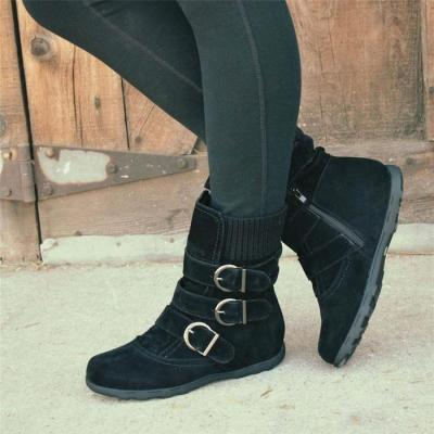 Women Winter Boots Daily Faux Suede Low Heel Shoes