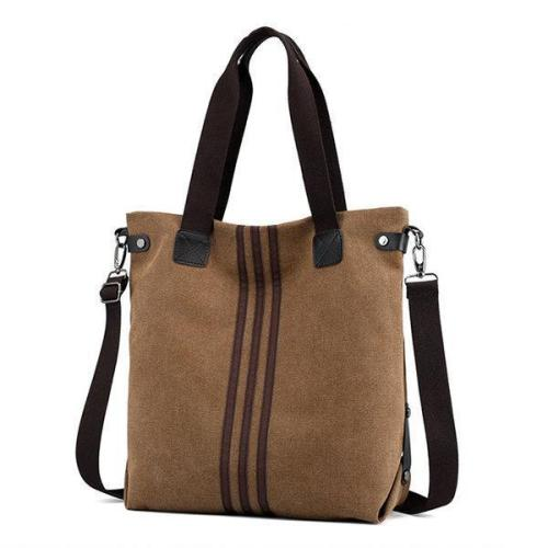 Women Canvas Large Capacity Handbag Leisure Crossbody Bag