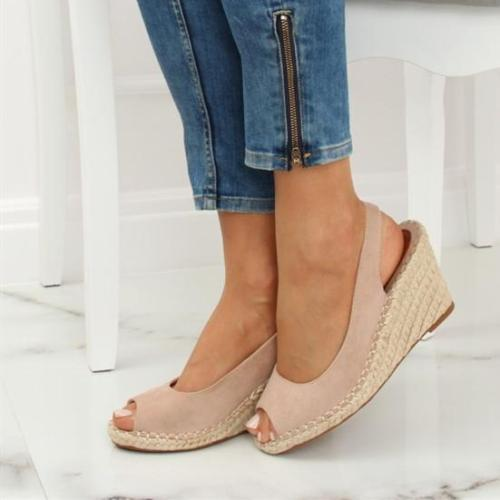 Women Casual Peop Toe Wedges