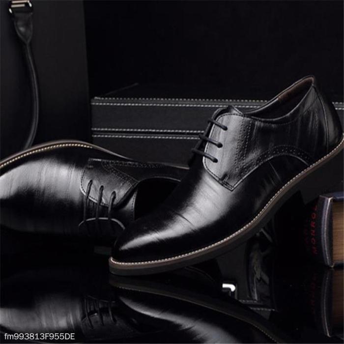 Fashion Business Formal Leather Plain Suit Shoes
