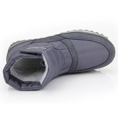 Men Plush Lining Waterproof Hook Loop Snow Boots