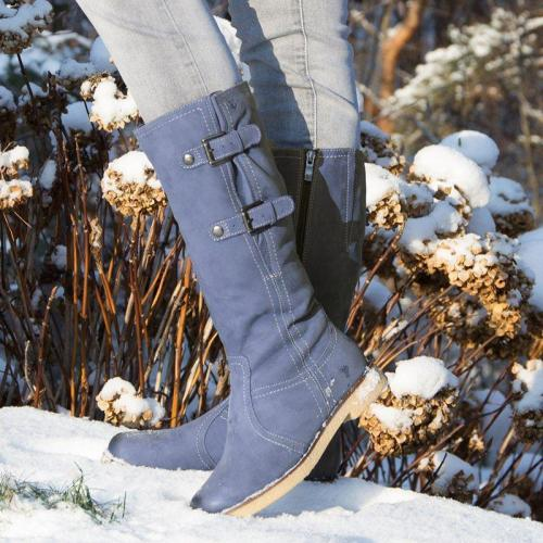 Women Casual Daily Buckle Strap Mid Calf Boots
