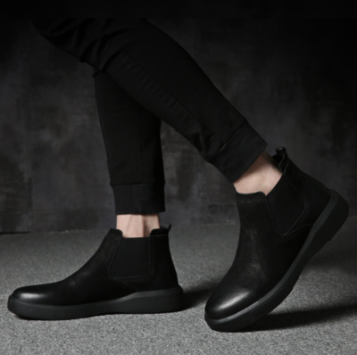 Martin boots leather winter fashion casual to help Chelsea boots