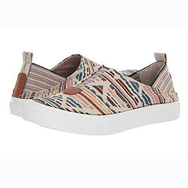 Women's Canvas Round Toe Colorful Loafers