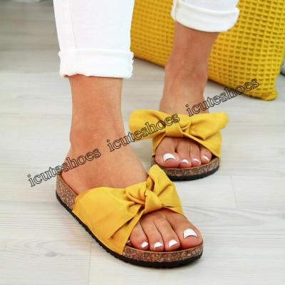 Shoes Woman Sandals For Women Beach Shoes Bow Slip On Gladiator Sandals Women Summer Footwear