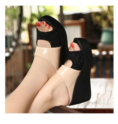 Fashion Leisure Fish Mouth Sandals Thick Bottom Slippers wedges shoes